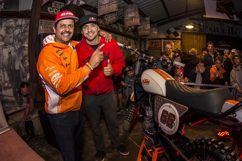 Ivan Ramirez and dad who were top bid on bike.