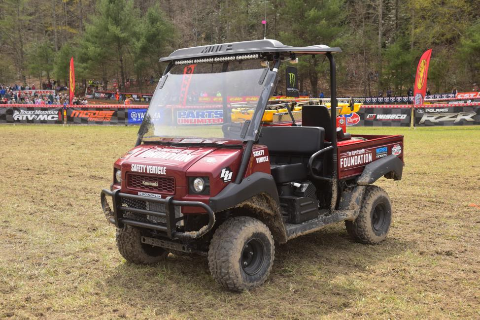 The Kurt Caselli Foundation GNCC Safety Vehicle will be used by local medical teams at every GNCC this season.  Photo: Ken Hill