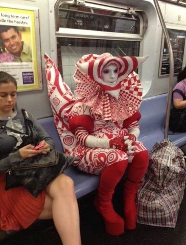 Gotta love the strangeness of public transportation. I didn't take this particular picture, but click on the pic for some Buzzfeed entertainment!