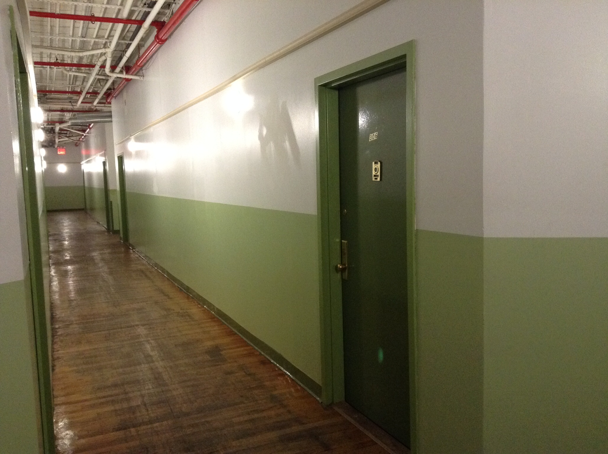 We get the green floor! The suspense is building...