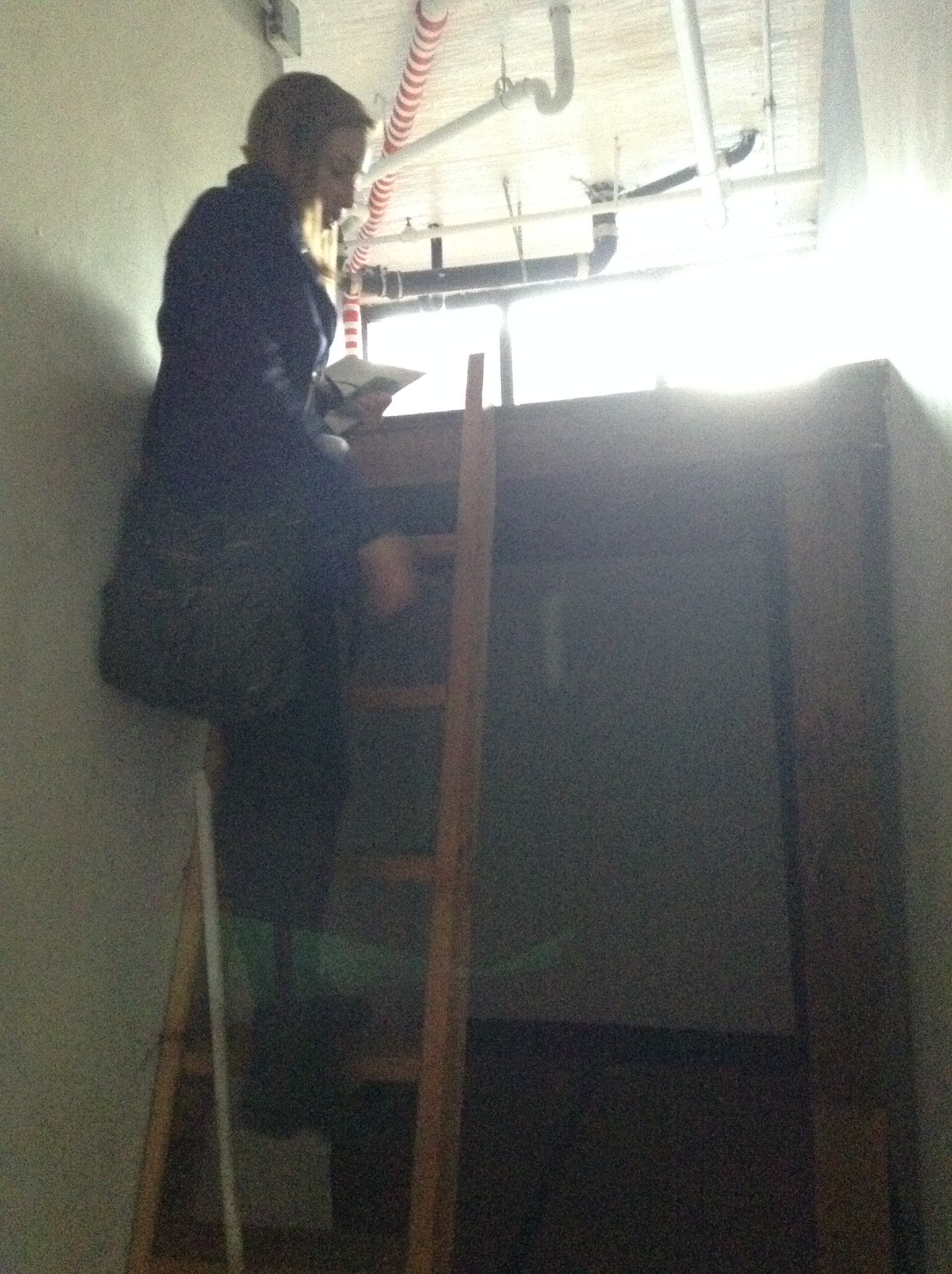 Bedroom #2--another split level, the space below can't wait to be a walk-in closet ;)