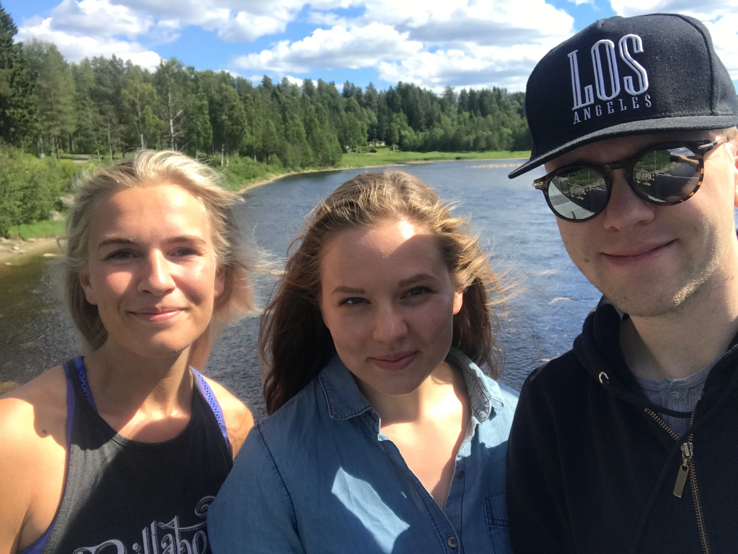 Bike ride down the Umeälven with Niklas (host and Swedish brother) and Linnea:)