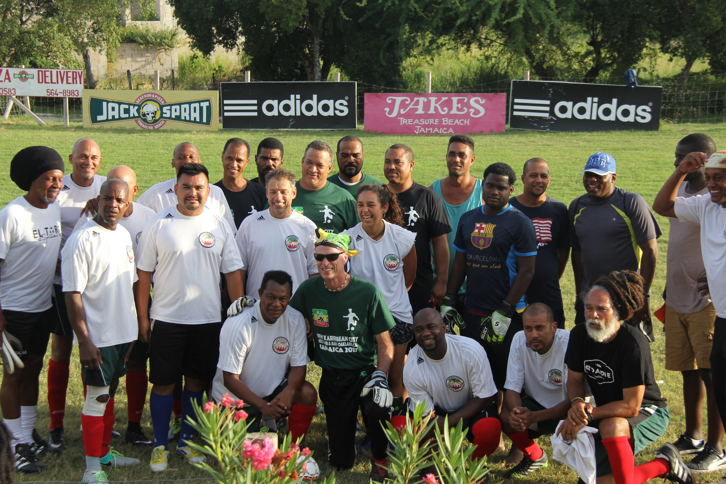 Soccer games - Africari team members and MYS coaches played against local teams at the BREDS sports complex and at University of West Indies in Kingston.