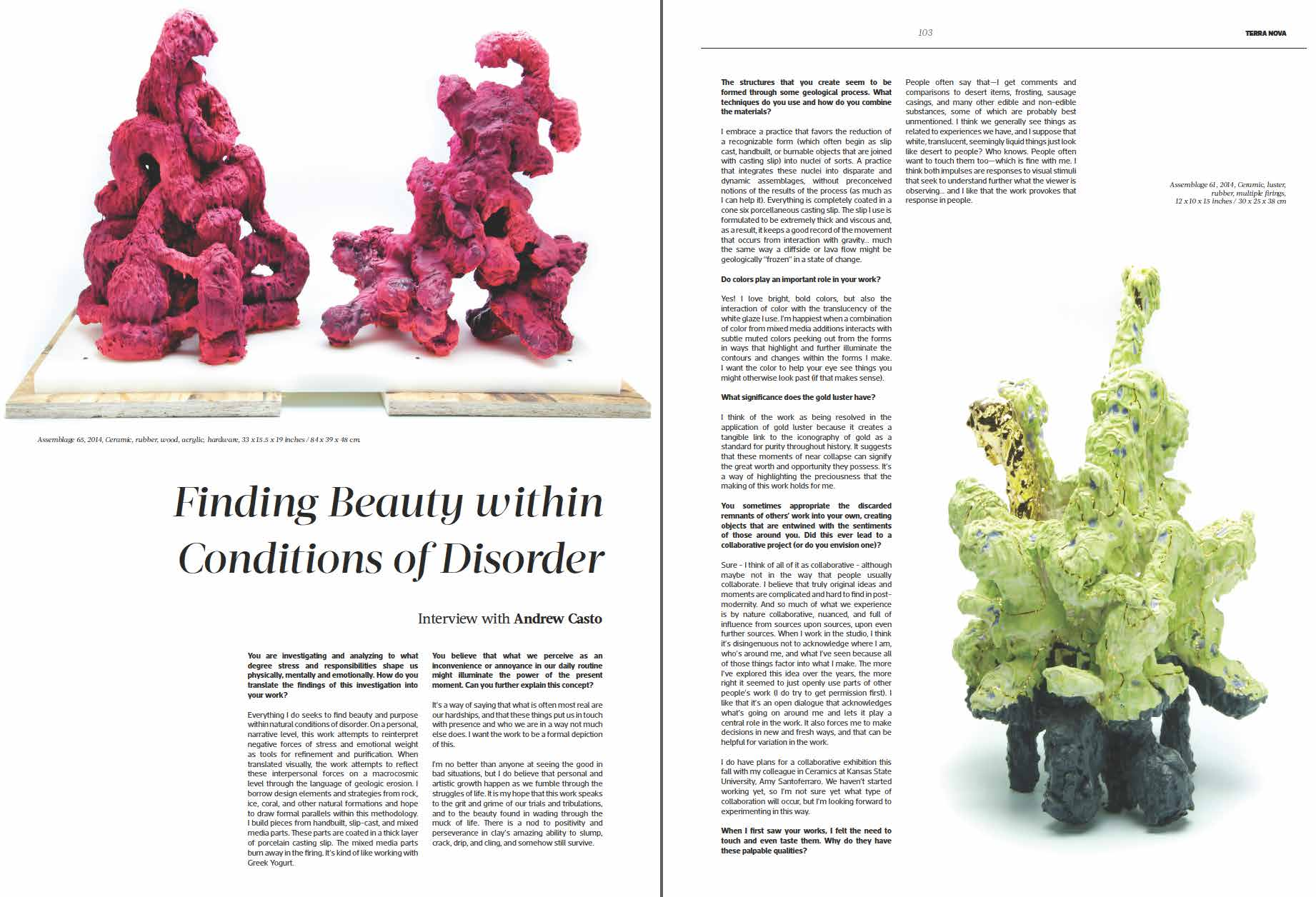 Ceramics Now , Issue 3, Summer 2015, Interview with Vasi Hirdo.