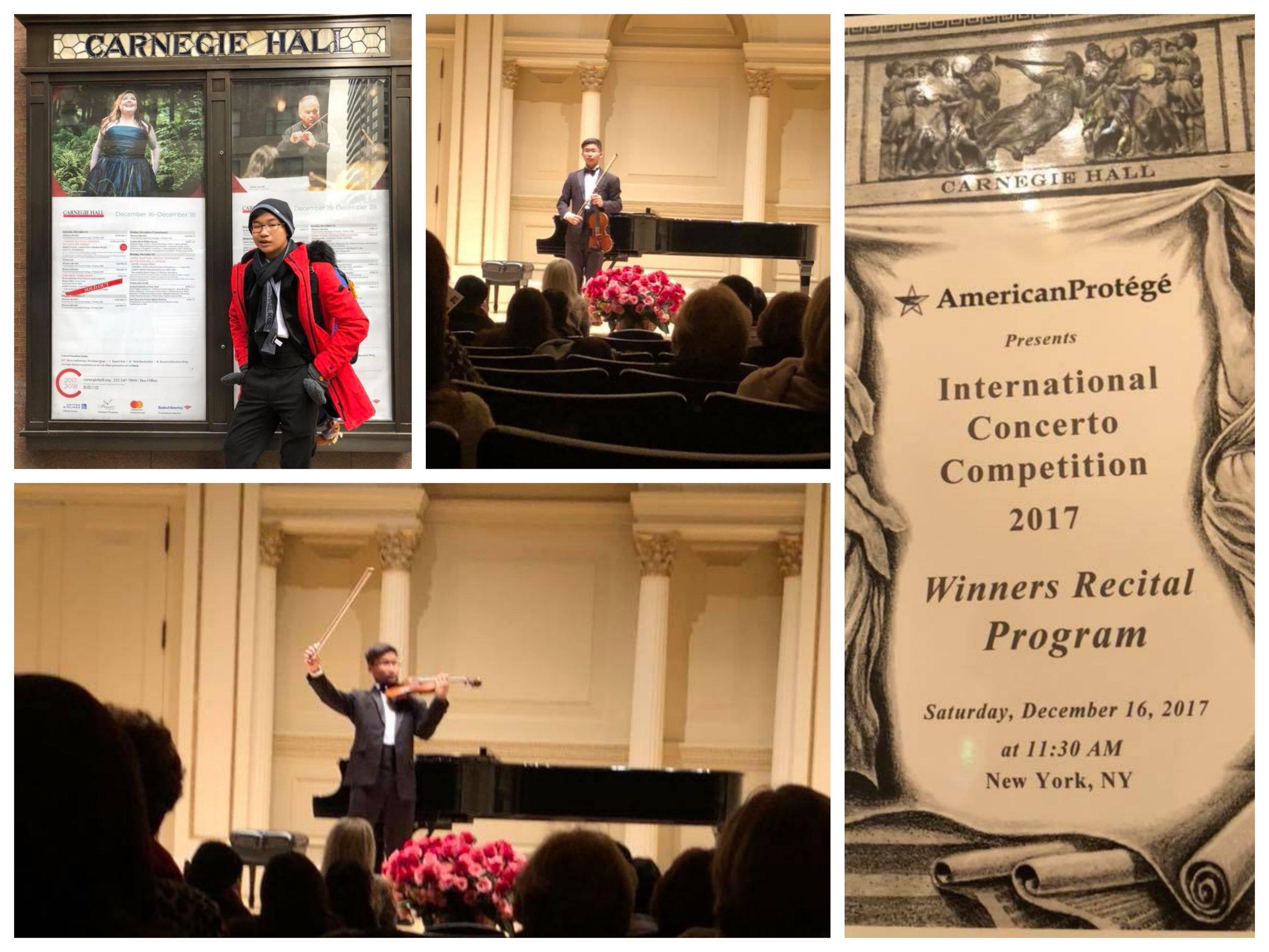 William SuwandiAge 14 - Carnegie Hall December 2017