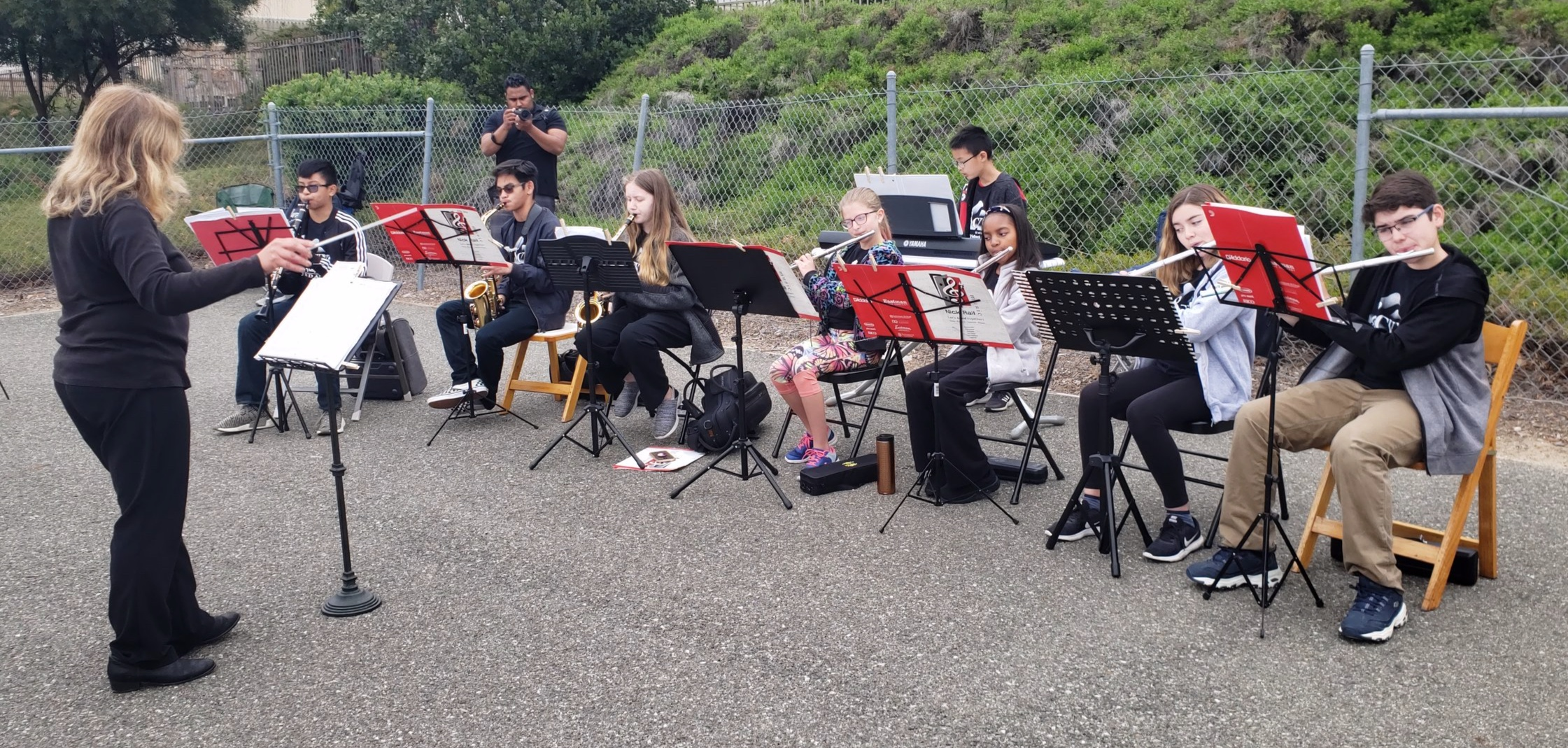 Prelude Winds & Brass perform along route of Arts Run Santa Clarita April 27, 2019