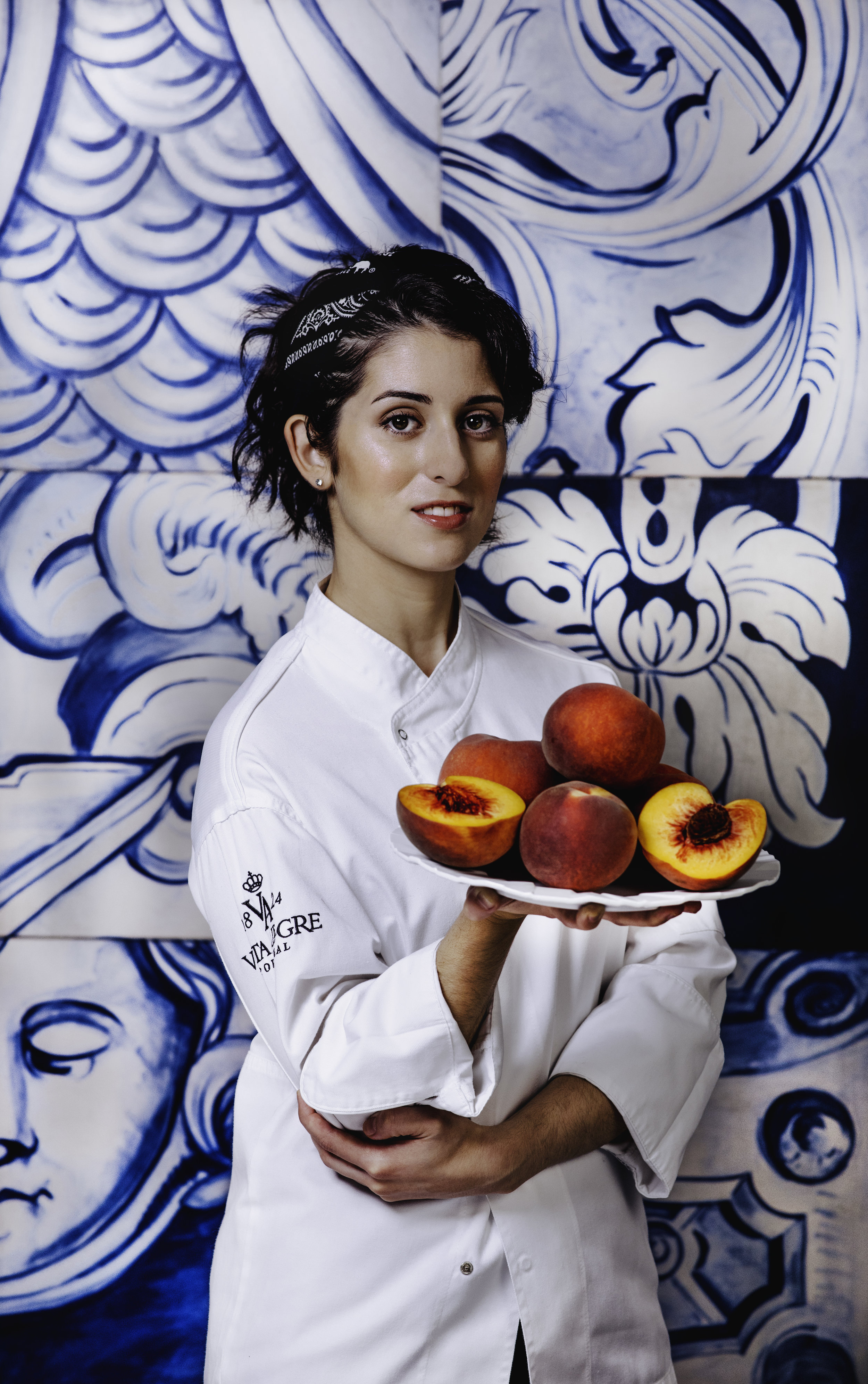 Jessica Carreira, pastry chef and co-owner of Adega restaurant in San Jose, photographed for The Nob Hill Gazette.