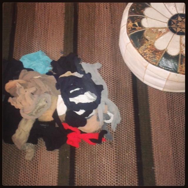 sukkahousut kierrätykseen!