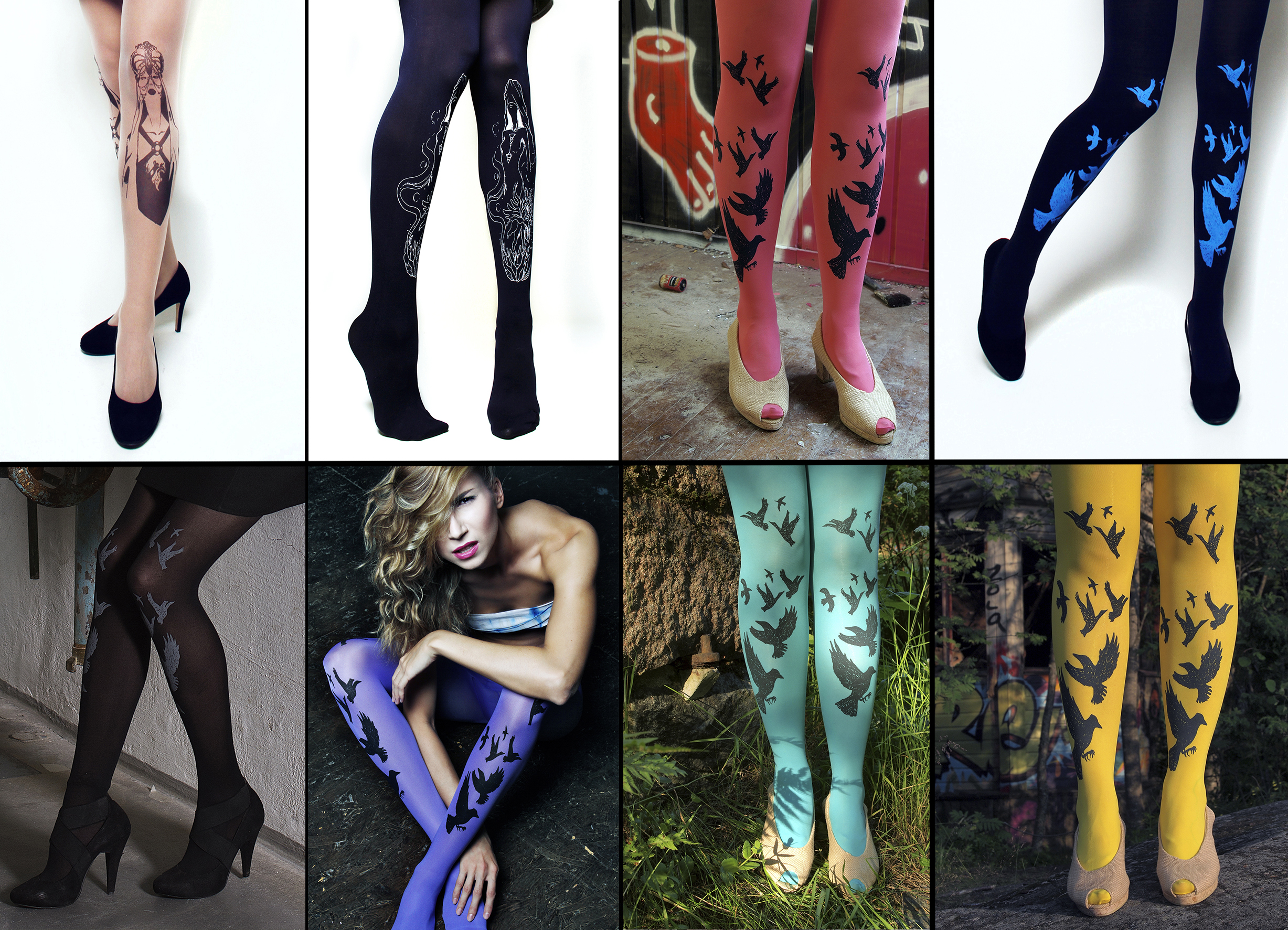 Printed tights now from Tallinn