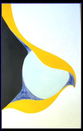 Compression     peinture 100 x 64 cm :    vinylique, glycéro, sur support rigide (Isorel)