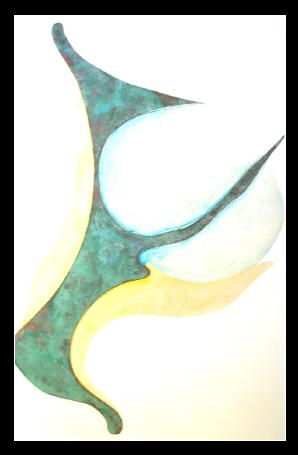 Spacialité     peinture 100 x 64 cm :   vinylique, glycéro,encre,  sur support rigide (Isorel)
