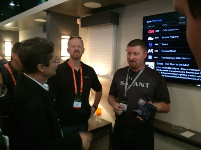 Jason getting a demo at the Savant booth