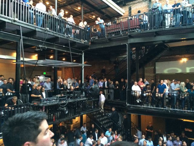 Control4 Dealer party -- packed!