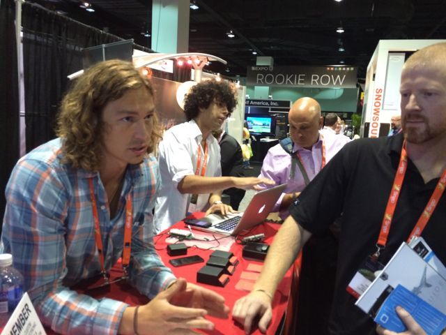 Chatting with Shaun Moore at the Chui booth