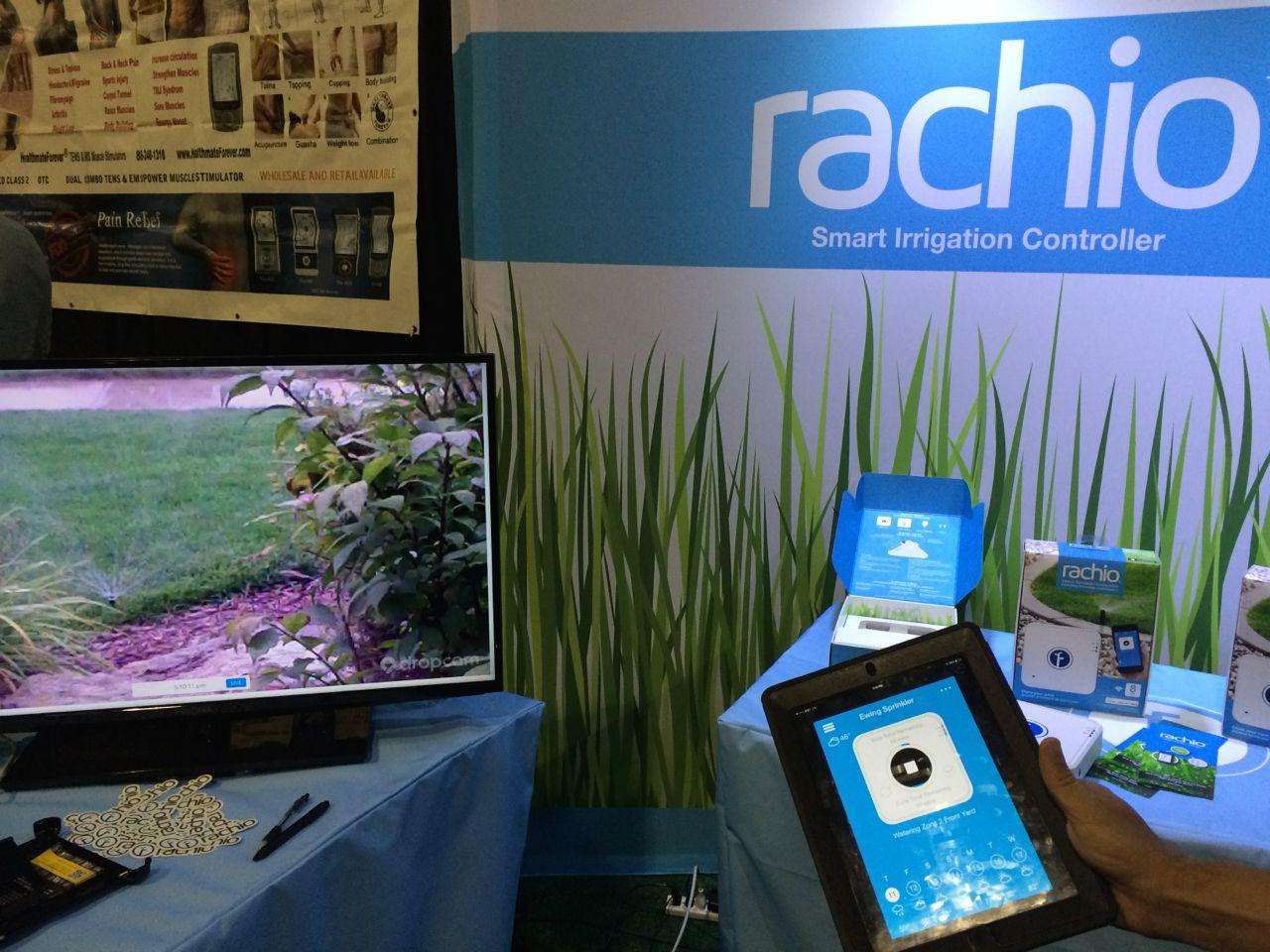 Rachio smart sprinkler demo