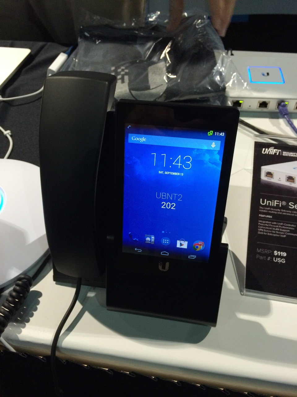 Ubiquity Android desk phone