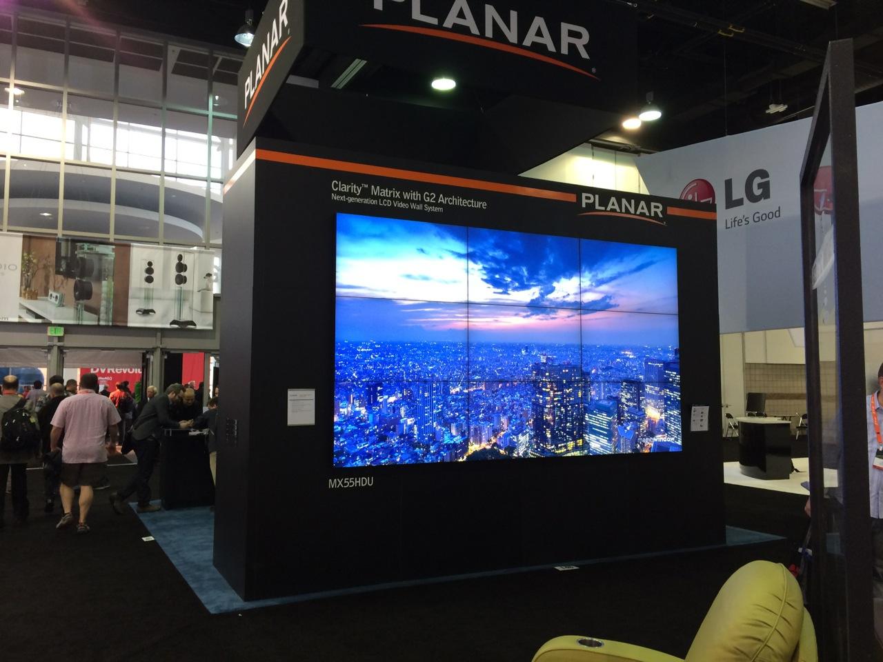 Massive 3x3 Planar video wall