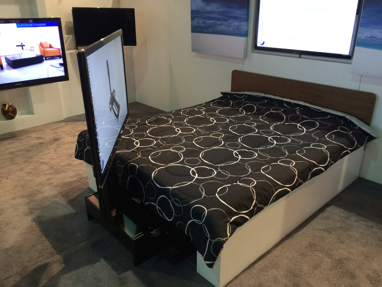 Motorized Under-bed TV mount