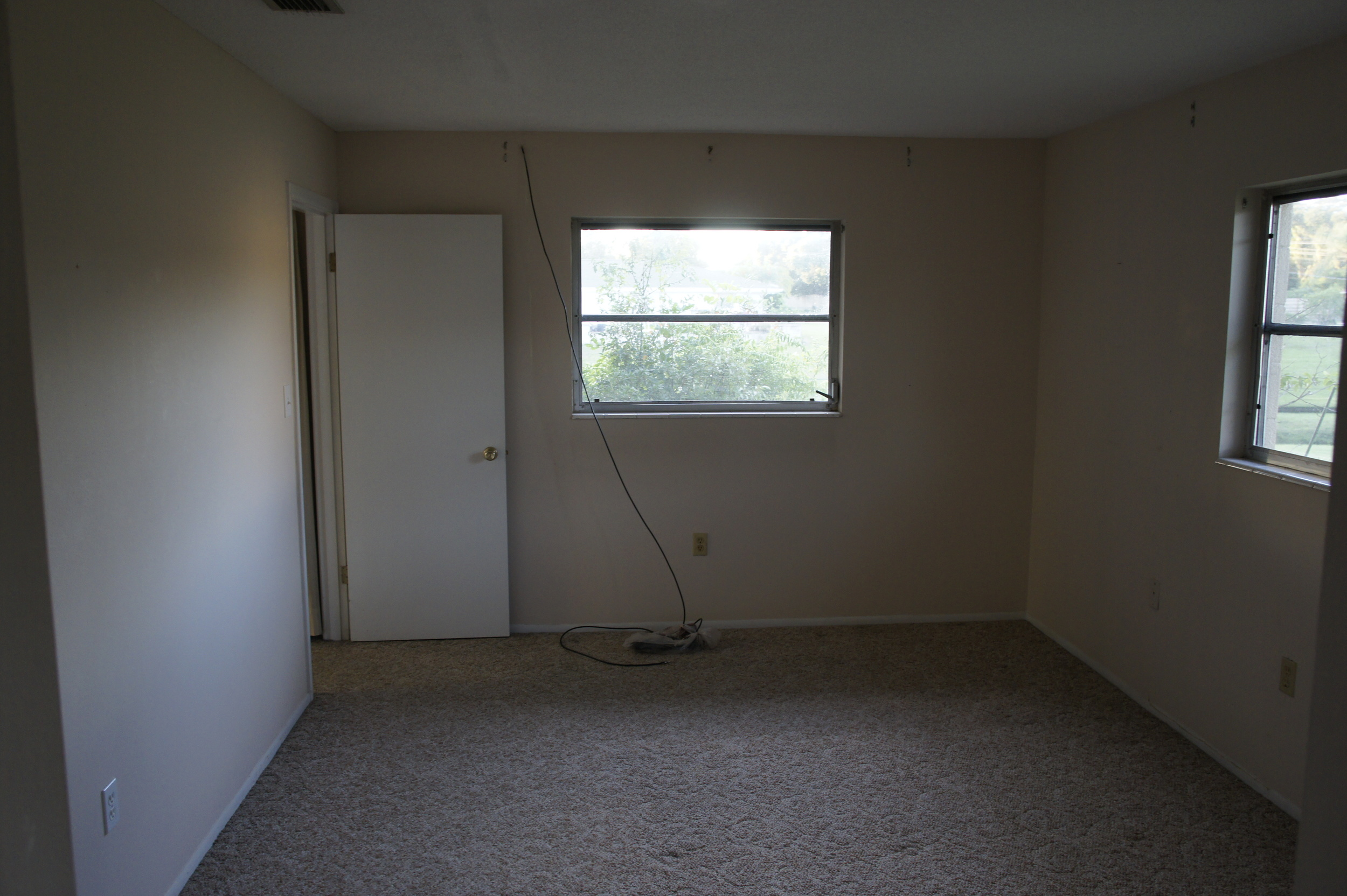 Master Bedroom (with custom cable TV wire)