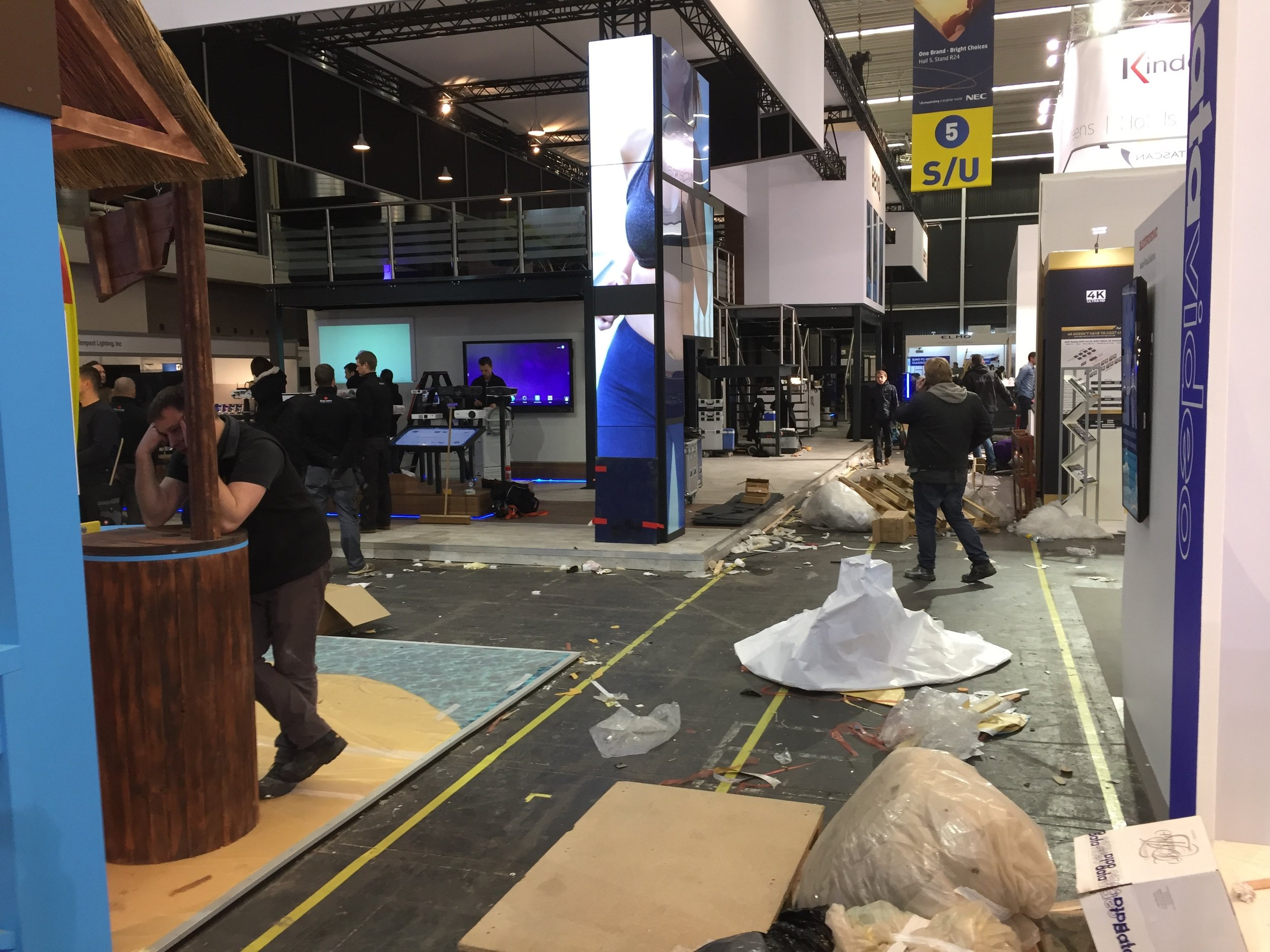 Show floor chaos the day before opening