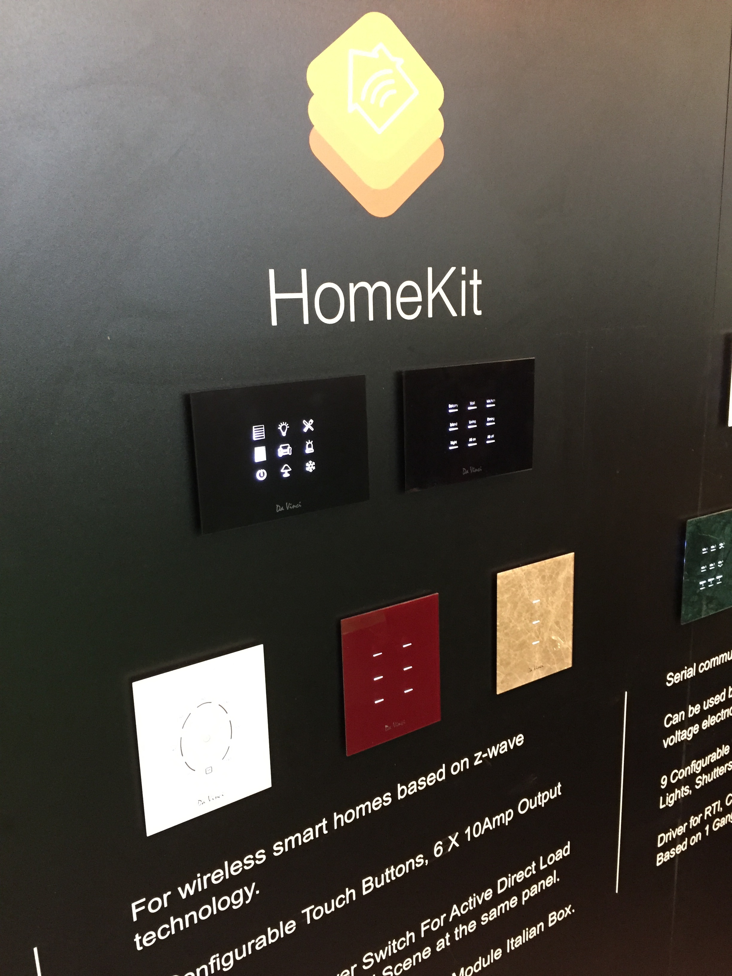 HomeKit glass touch keypad?!