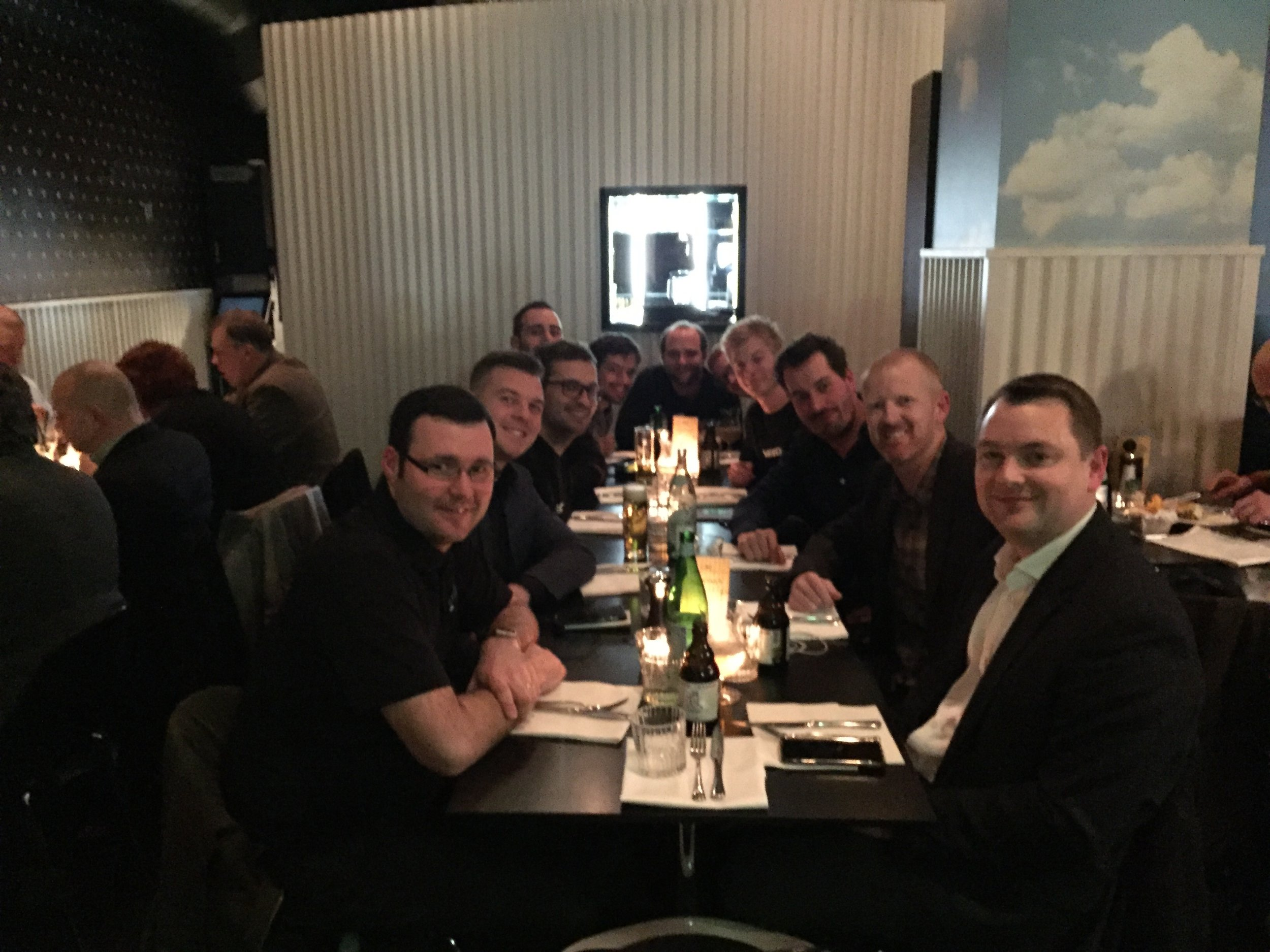 Dinner with the team from HDAnywhere and NEEO