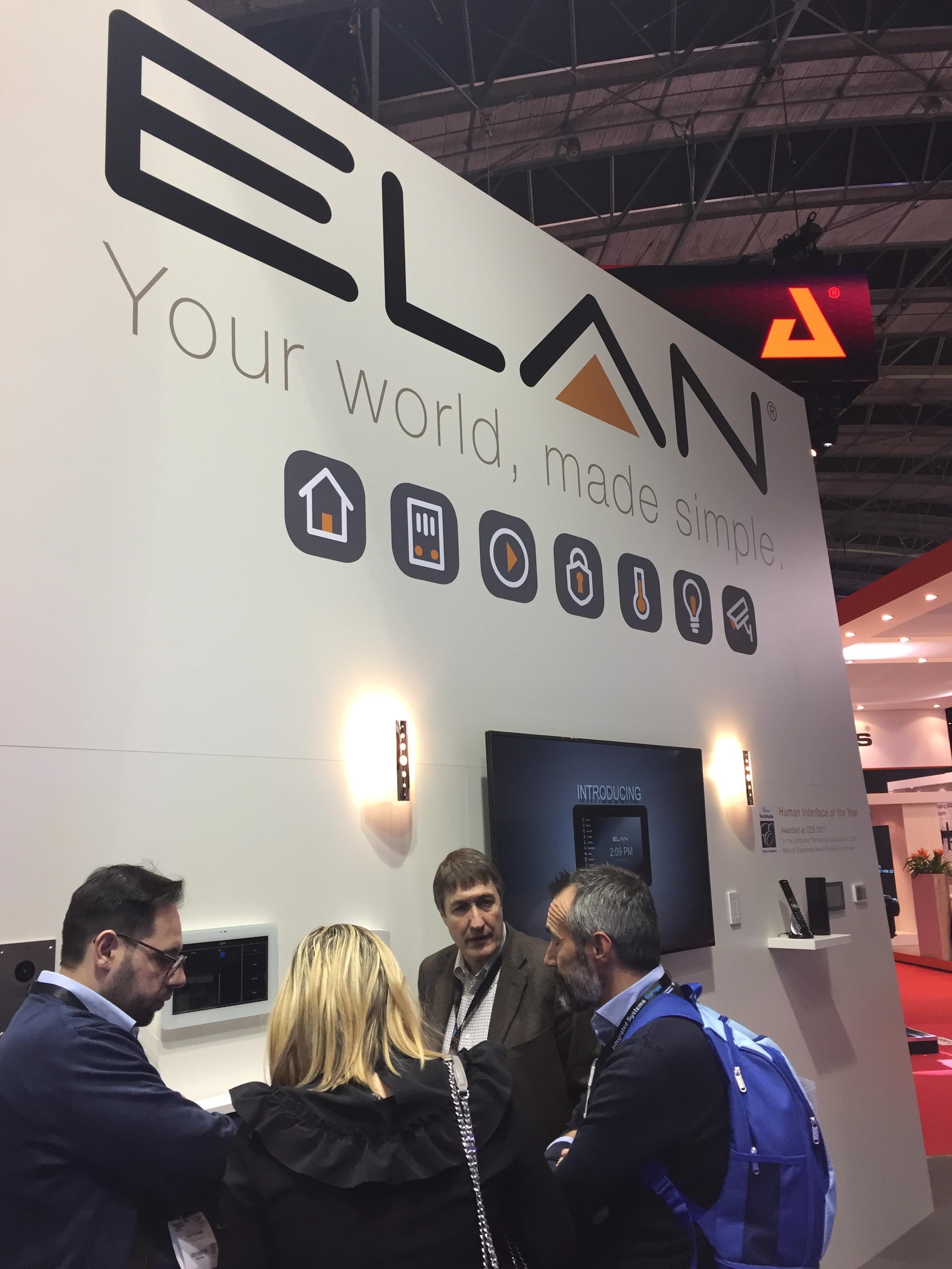 Elan's booth