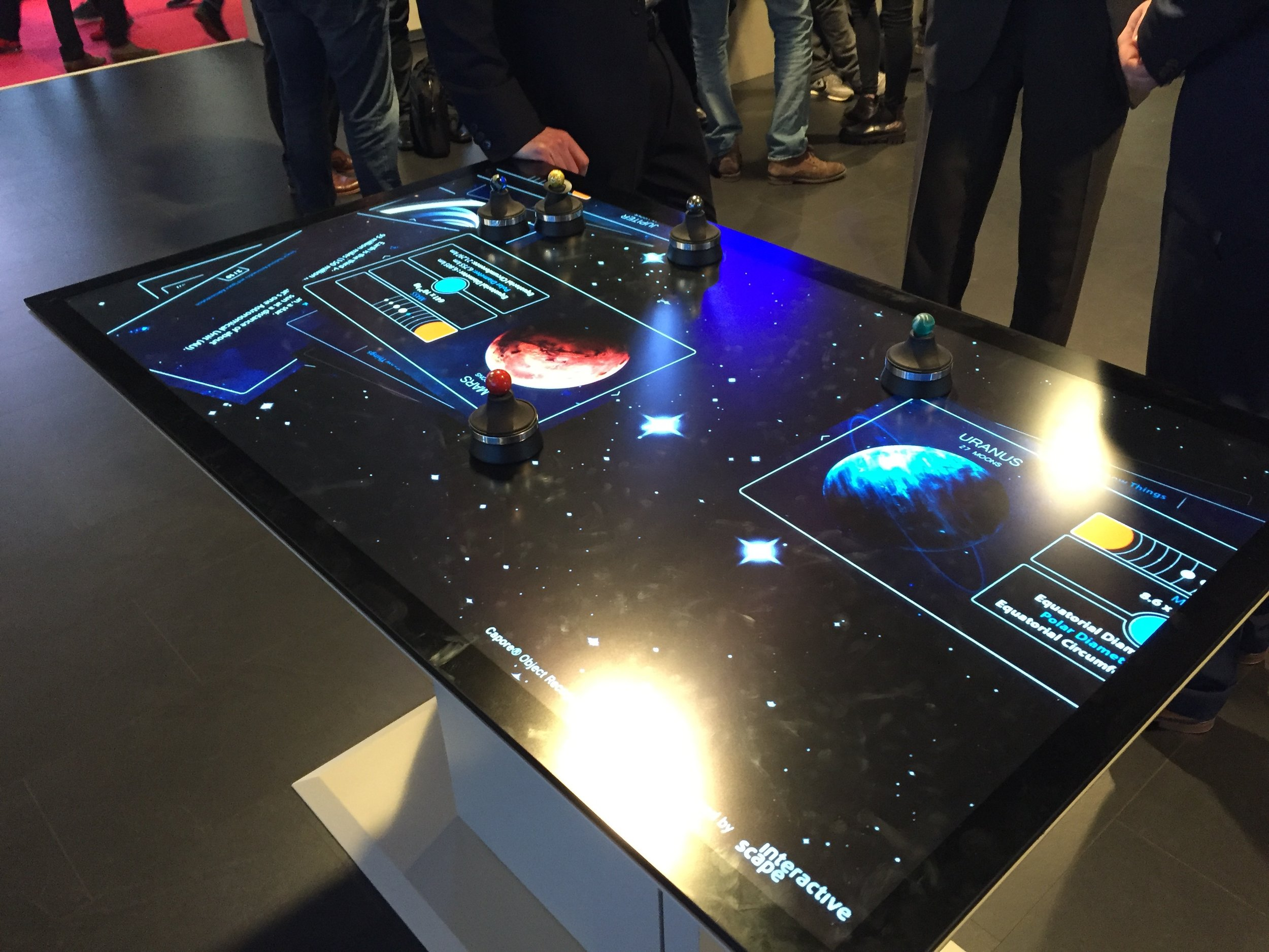 Interactive display technology from Christie