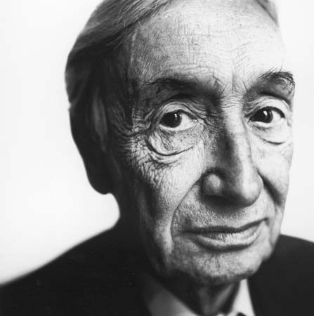 Sir A.J. Ayer, late 1980s.  Steve Pyke—Hulton Archive/Getty Images