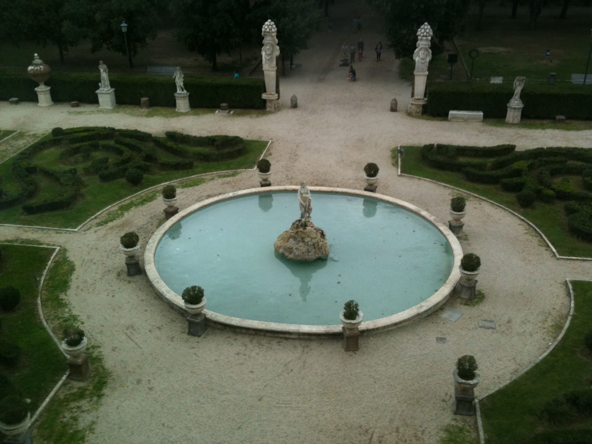 view from Galeria Borghese