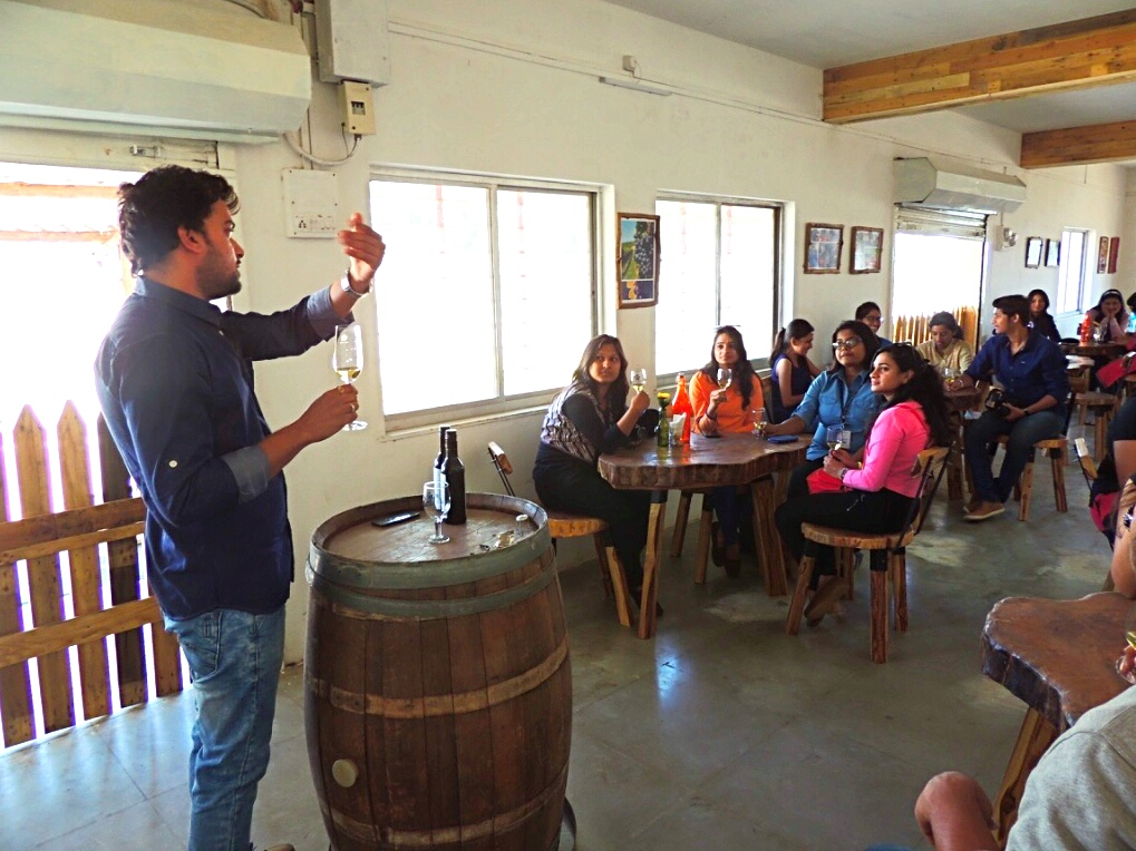 Nashik wine tour | Wine information center at vinchur wine park