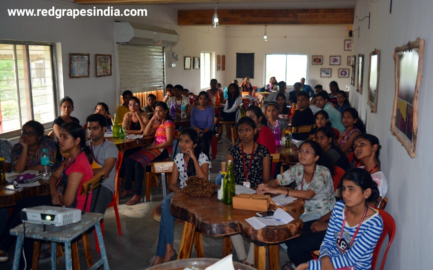 Wine tour for VES College Mumbai by Red Grapes.