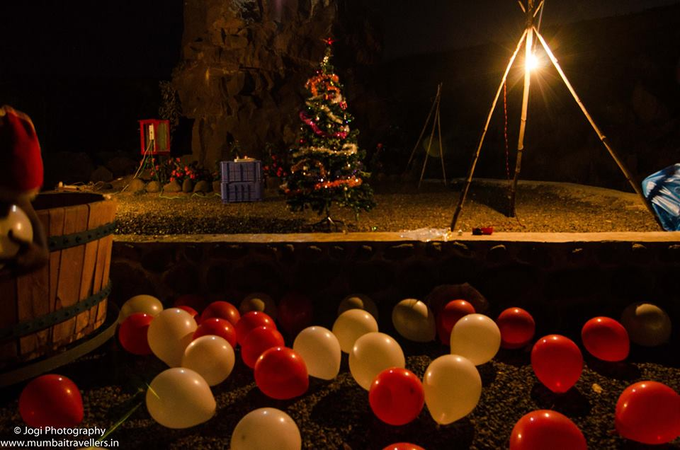 Christmas Eve celebration at Wine Information Center by Red Grapes at Wine Park, Nashik, Maharashtra. India.