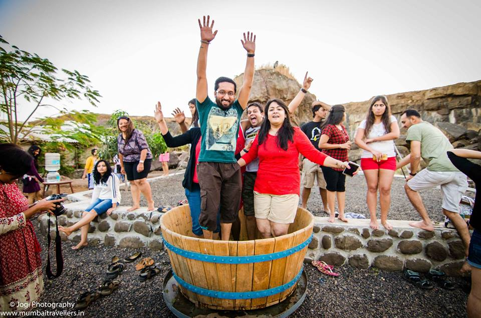 Grape stomping for Christmas event 2016 at Wine Information Center by Red Grapes at Wine park, Nashik, Maharashtra, India.