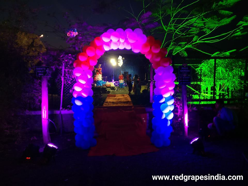 Wine information center is a loved venue for birthday celebration in Nashik, balloon entrance