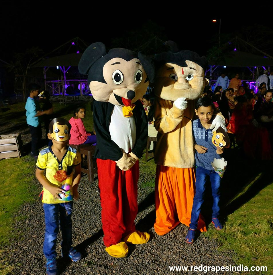 Wine information center is a loved venue for birthday celebration in Nashik, mickey and chota bheem