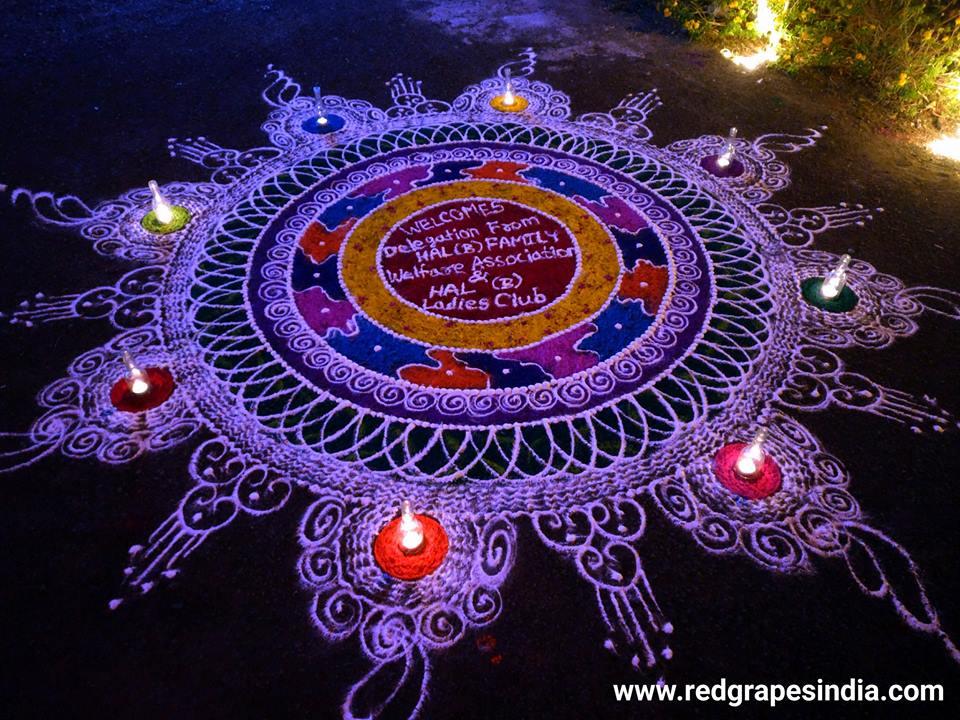 HAL (Hindustan Aeronotical Limited) cultural event at Wine information center by Red Grapes at wine park, vinchur, Nashik.