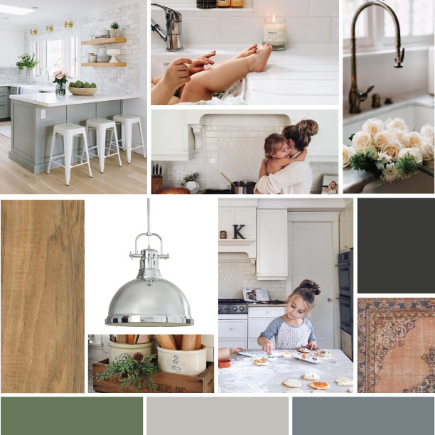 Mood board for my current client's kitchen design