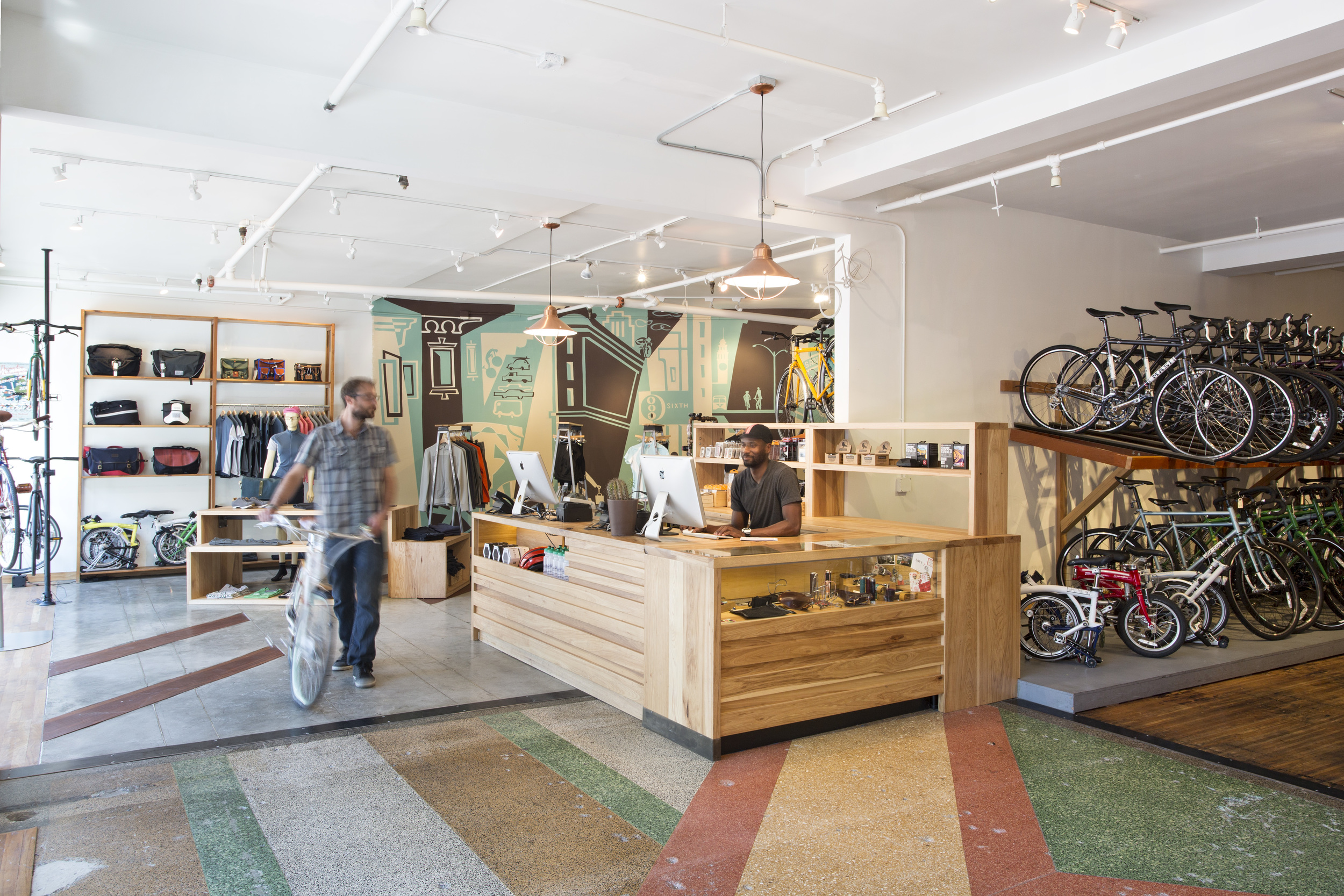 One year after opening, the store expanded into a third tenant space next door, doubling their street presence.