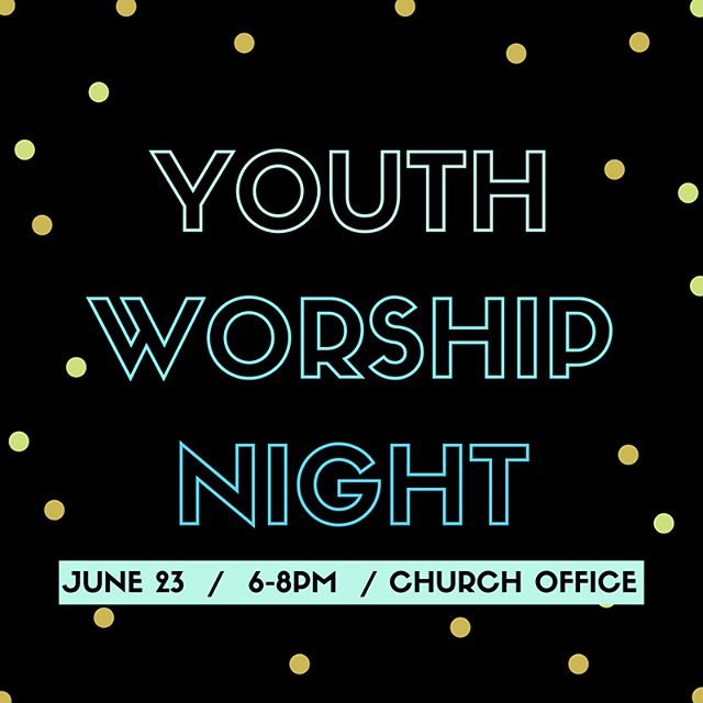 Our youth band is leading a worship night THIS SATURDAY 6-8pm at the church offices and would love to see you all there for one awesome Jesus party!! They will take up an offering for their upcoming mission trip to Knoxville TN, so you can come prepared to invest in the team and help them get there!