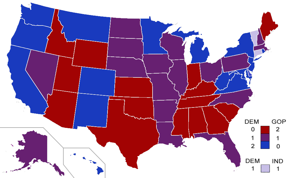 American political map with blue and red.png