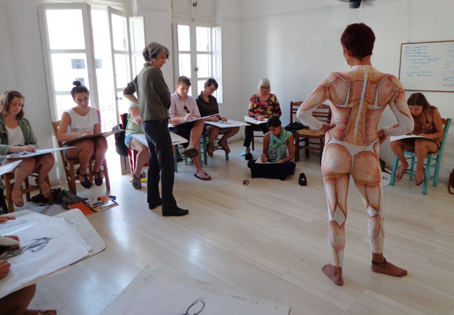 Figure drawing at  The Aegean Center