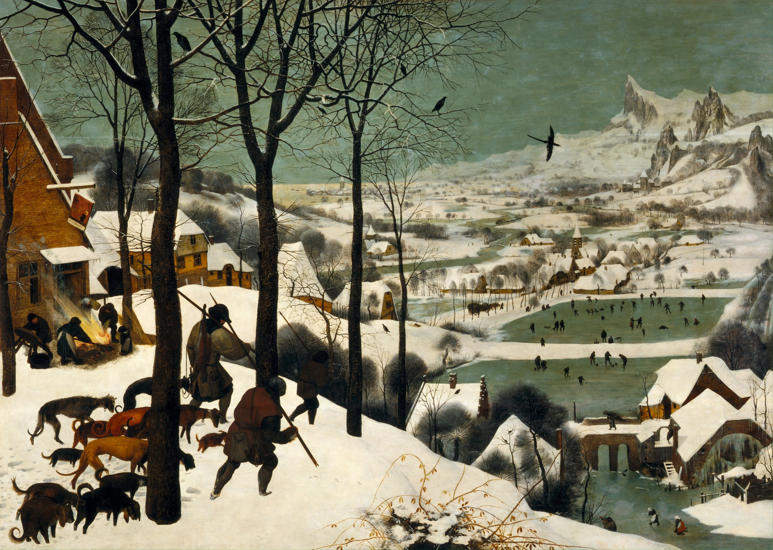 Hunters in the Snow by Bruegel