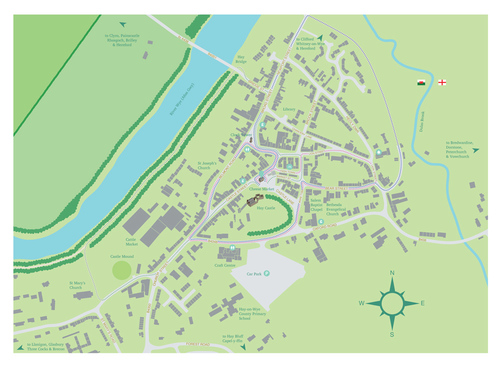 Hay On Wye Map Maps of Hay on Wye — Hay Cheese Market