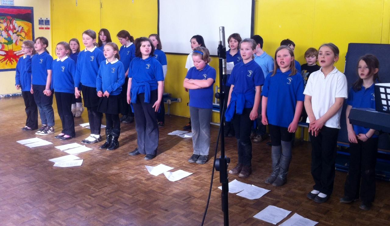 Hay Primary School Choir singing the Crawshay Bailey