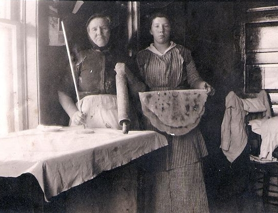 Our Nordic ancestors making lefse