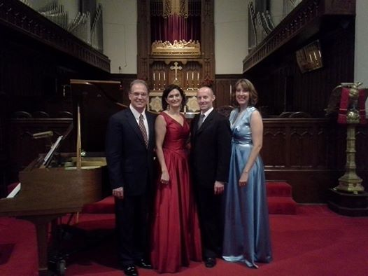After a song recital at Grace Episcopal Church in Monroe, LA with soprano Claire Vangelisti, tenor Corey Trahan, and pianist Richard Seiler.