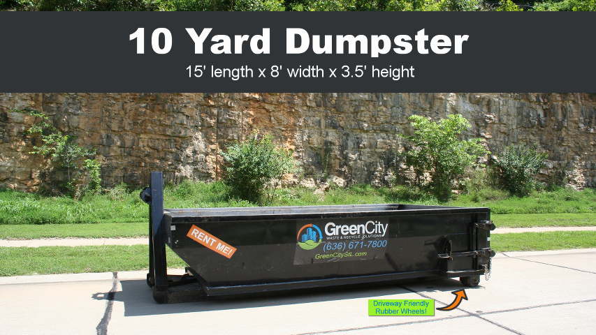Click the image to order a 10 yard dumpster rental