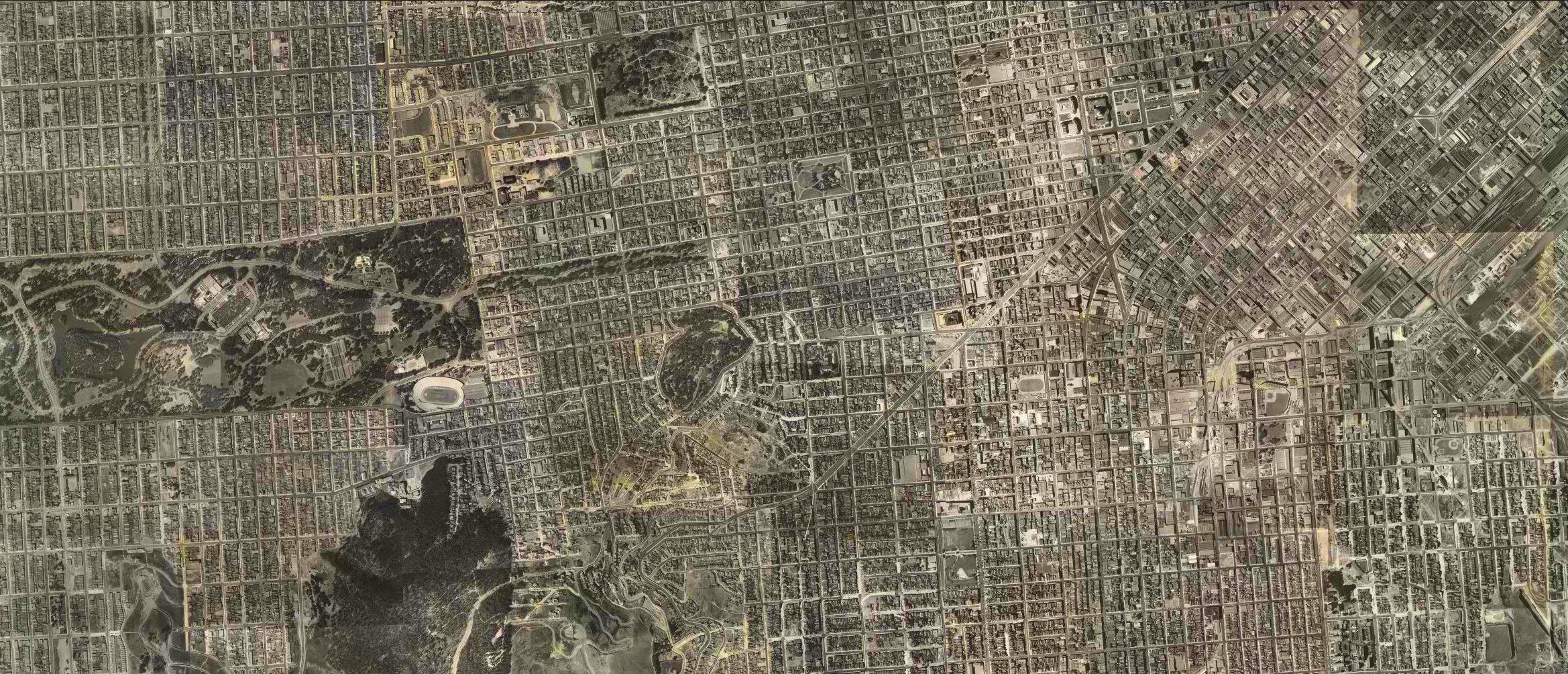 aerial view SF 1937-1938