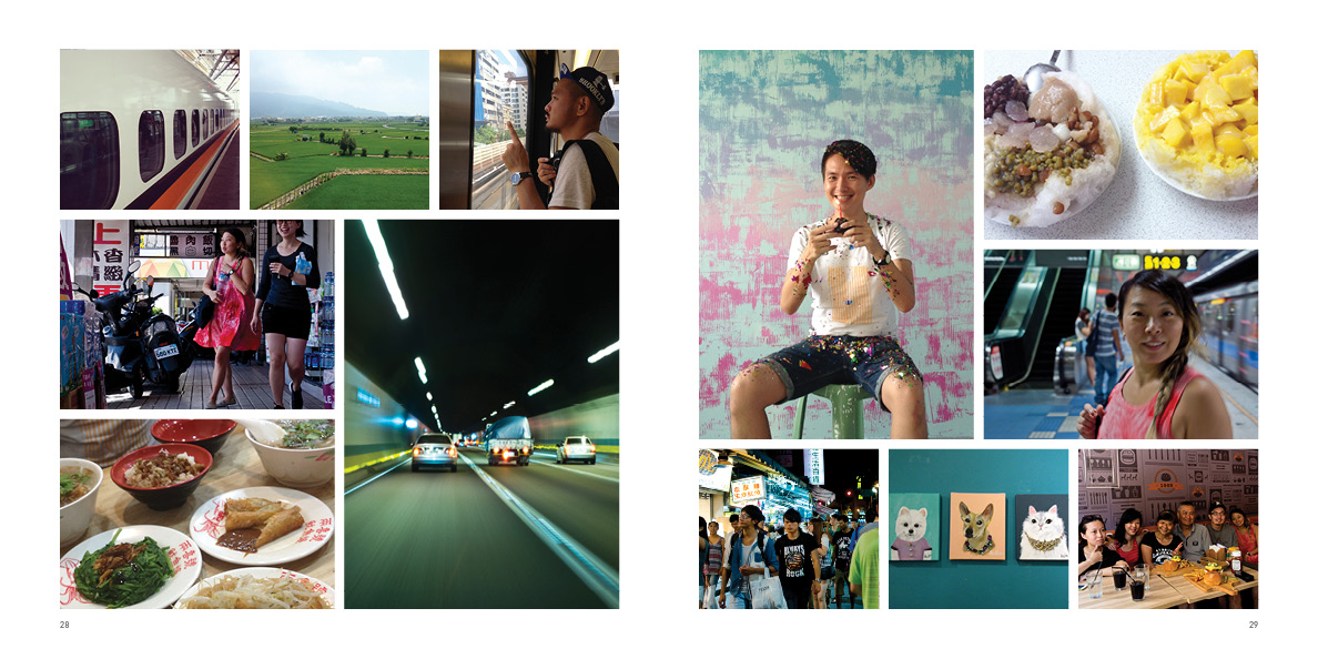 """Pages 28-29 of """"Out There No. 01"""" photo journal."""